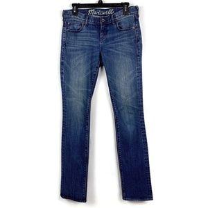 Madewell Rail Straight Dark Wash Jeans 27 x 33